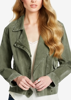 Jessica Simpson Cotton Moto Cargo Jacket