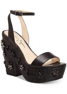 Jessica Simpson Cressia Wicker Wedge Sandals Women's Shoes