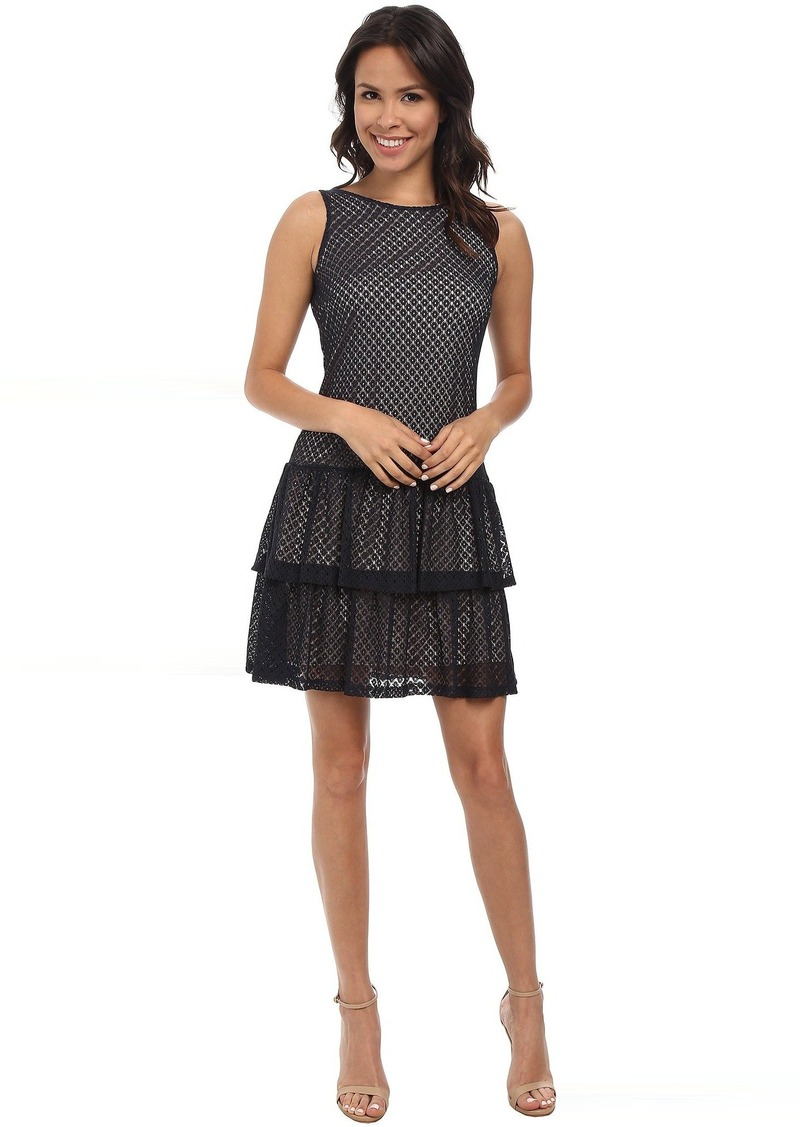 Jessica Simpson Crochet Lace Tier Dress w/ Bow
