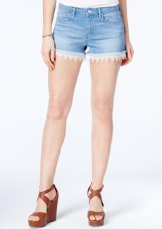 Jessica Simpson Crochet-Trim Denim Shorts