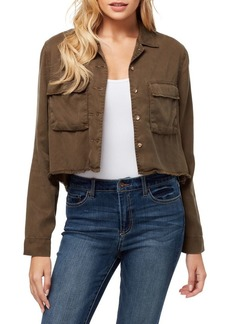 Jessica Simpson Cropped Button Jacket