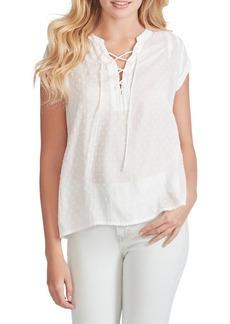Jessica Simpson Dalton Lace-Up Cotton Top