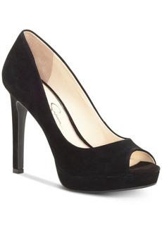 Jessica Simpson Dalyn Peep-Toe Platform Pumps Women's Shoes
