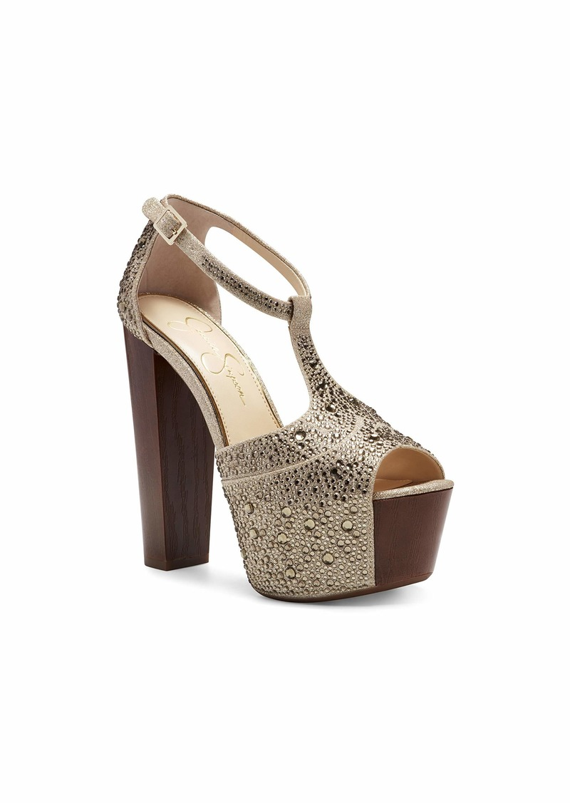 Jessica Simpson Women's Danyhotfx Heeled Sandal