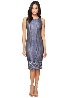 Jessica Simpson Deco Border Bonded Lace Dress