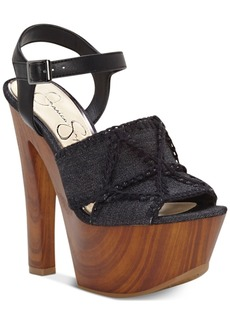 Jessica Simpson Dezzie Mega Wood-Platform Sandals Women's Shoes