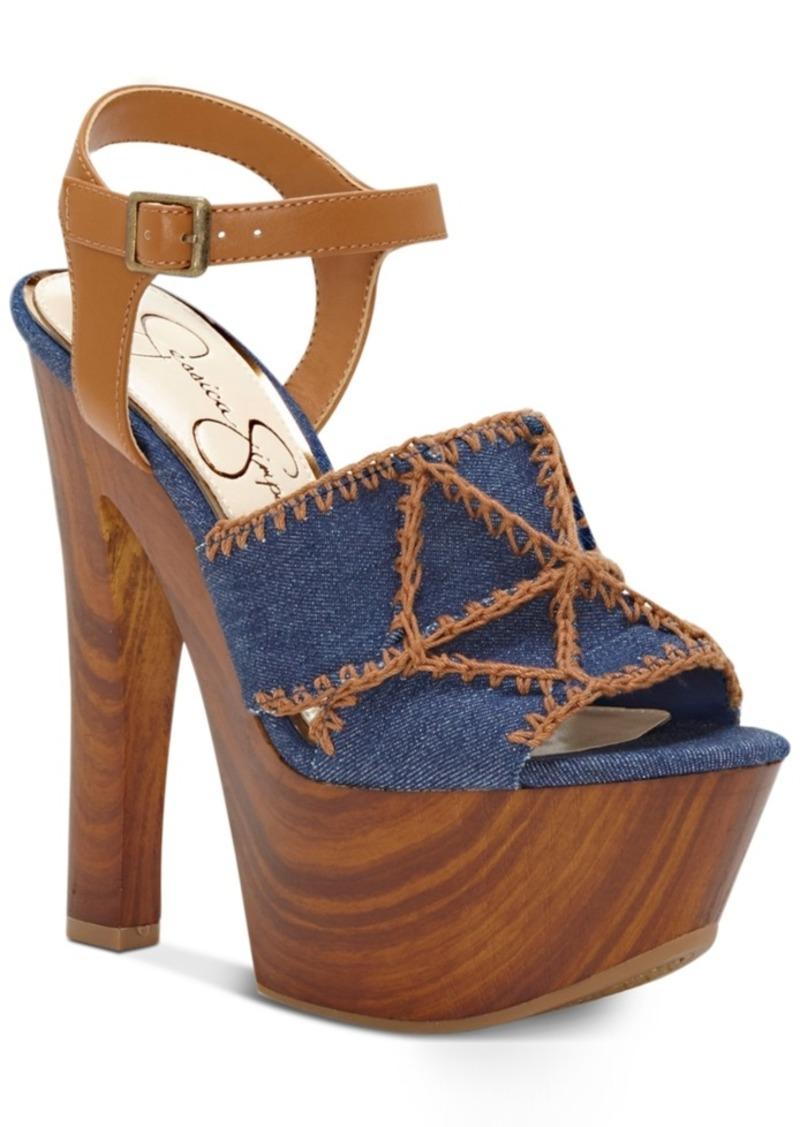 e5c3a9d75778 On Sale today! Jessica Simpson Jessica Simpson Dezzie Mega Wood ...