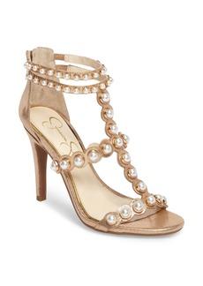 Jessica Simpson Eleia Imitation Pearl Stud Sandal (Women)