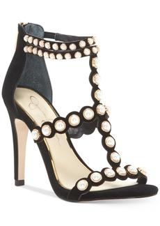 Jessica Simpson Eleia Pearl-Studded Dress Sandals Women's Shoes