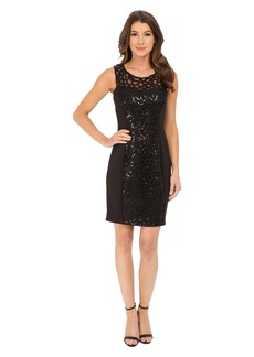 Jessica Simpson Embellished Cut Out Sequin Dress