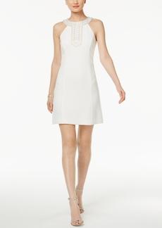 Jessica Simpson Embellished Halter Shift Dress