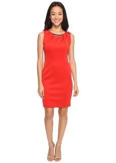 Jessica Simpson Embellished Neck Dress