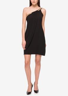 Jessica Simpson Embellished One-Shoulder Dress