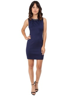 Jessica Simpson Embellished Sleeveless Scuba Dress JS5D7736