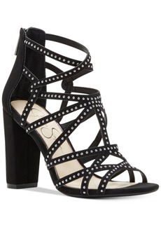 Jessica Simpson Emmi Studded Block-Heel Sandals Women's Shoes