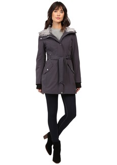 Jessica Simpson Faux Fur Lined Hood Belted Softshell