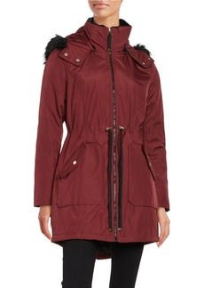 JESSICA SIMPSON Faux Fur Trimmed Water Resistant Hooded Parka