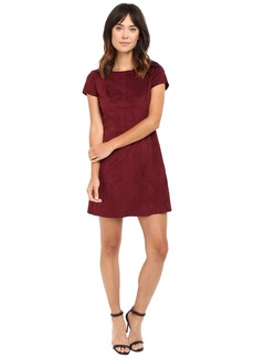Jessica Simpson Faux Suede T-Shirt Dress