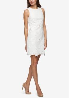 Jessica Simpson Floral-Applique Sheath Dress