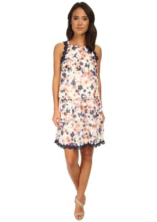 Jessica Simpson Floral Chiffon Two-Piece Dress Set