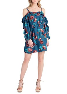Jessica Simpson Floral Cold-Shoulder Dress