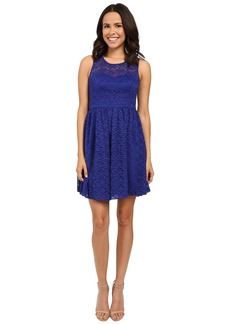 Jessica Simpson Floral Lace Fit and Flare Dress JS6D8645