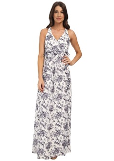 Jessica Simpson Floral Print Ruffle Maxi Dress