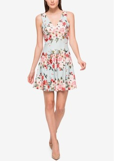 Jessica Simpson Floral-Print Scuba Fit & Flare Dress