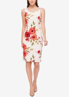 Jessica Simpson Floral-Print Scuba Sheath Dress