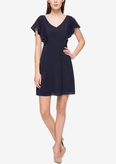 Jessica Simpson Flutter-Sleeve A-Line Dress