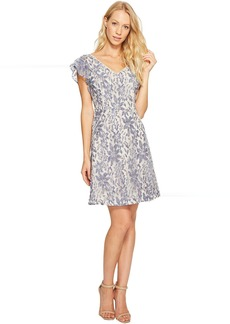 Jessica Simpson Flutter Sleeve Lace Dress