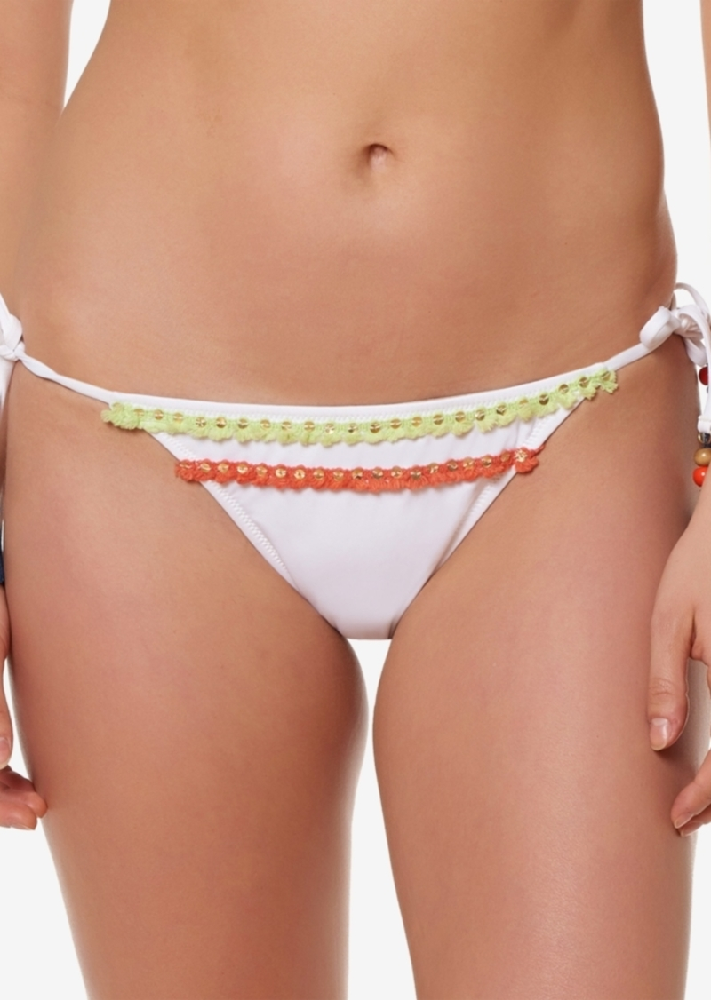 b6b3addfc7 Jessica Simpson Jessica Simpson Fringed Side-Tie Cheeky Bikini ...