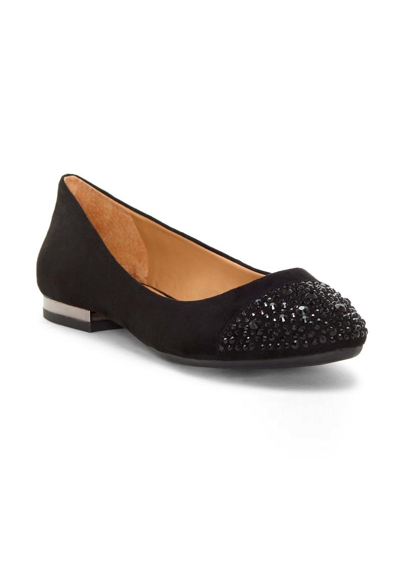 Jessica Simpson Genia Crystal Cap Toe Flat (Women)