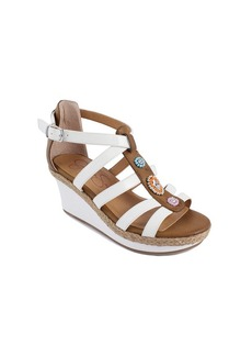 "Jessica Simpson Girls' ""Athena"" Beaded Wedge Sandals"