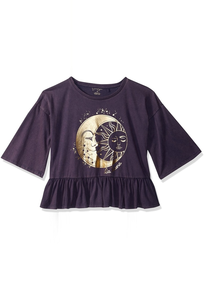 Jessica Simpson Girls' Big Mineral Washed Fashion Top