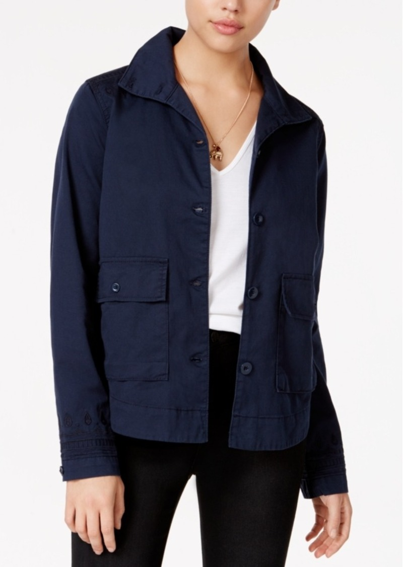 Jessica Simpson Greta Embroidered Denim Jacket