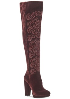 Jessica Simpson Grizella Platform Velvet Over-The-Knee Boots Women's Shoes