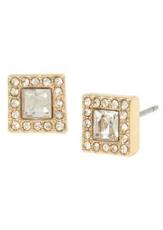 "Jessica Simpson Halo Square Stud Earrings, 0.25"""