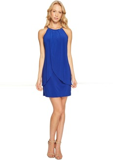 Jessica Simpson Halter Front Drape Dress JS6V8445