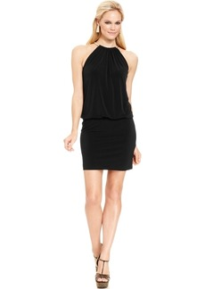 Jessica Simpson Halter Necklace Blouson Dress