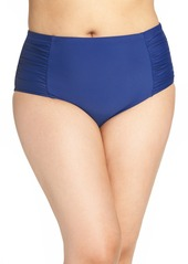Jessica Simpson High Waist Bikini Bottoms (Plus Size)