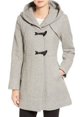 Jessica Simpson Hooded Basket Weave Duffle Coat