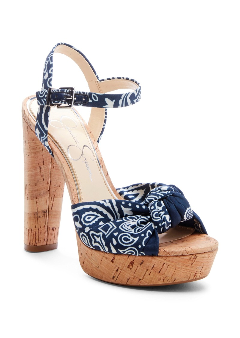Jessica Simpson Ivrey Knot Platform Sandal (Women)