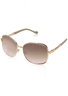 Jessica Simpson J5512 Beautiful Vented UV Protective Square Chain Metal Sunglasses | Wear All-Year | The Gift of Glam   0
