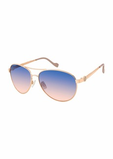 Jessica Simpson J5702 Iconic Metal Leaf Aviator UV Protective Sunglasses | Wear All-Year | The Gift of Glam