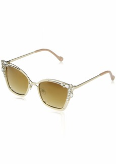 Jessica Simpson J5794 Metal Crystal Cat-Eye UV Protective Sunglasses | Wear All-Year | The Gift of Glam