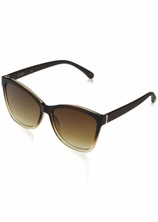 Jessica Simpson J5823 Rectangular Ombre Quilted Temple UV Protective Sunglasses | Wear All-Year | The Gift of Glam