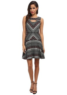 Jessica Simpson Jacquard Printed Dress