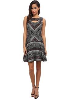 Jessica Simpson Jacquard Printed Dress