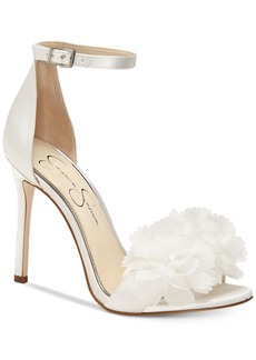 Jessica Simpson Jeena Flower Pom-Pom Sandals Women's Shoes